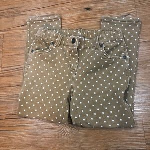 Stretchy Hanna Andersson White Dot Pants